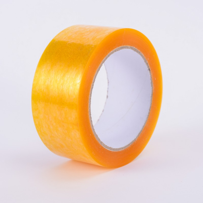 Bopp packaging seal high viscosity yellow transparent tape
